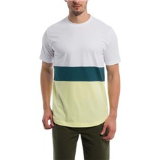Tshirt BENCH - Colorblock Stripe Tee Bright White (WH11185)
