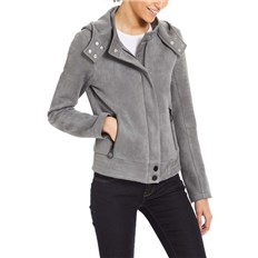 BENCH - Alcantara Biker Jacket Dark Grey (GY149)
