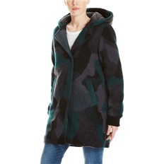 Jacke BENCH - Wool Coat With Nylon Hood Wool Jacquard Black/Ponderosa/ (P1150)