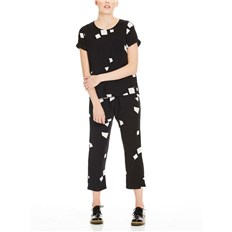 BENCH - Jumpsuit Aop Simple Graphic Black Beauty +  (P1087)