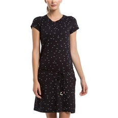 Kleid BENCH - Printed Jersey Dress Bird & Heart Minimal With Pop. (P1463)
