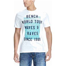 der T-Shirt BENCH - Graphic Bright White  (WH001)