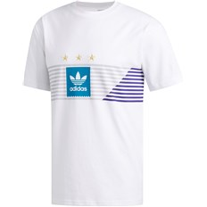 Tshirt ADIDAS - Campeonato Tee White/Grey One F17/Collegiate Purple/Active Teal (WHITE-GREY ONE F17-