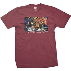 Tshirt DGK - Chess Moves Tee Burgundy (BURGUNDY)