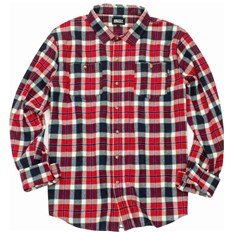 Hemd GRIZZLY - Outfield Ls Woven Red (RED)