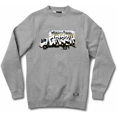 Sweatshirt GRIZZLY - Steady Rockin Crewneck Heather Grey (HTHR)
