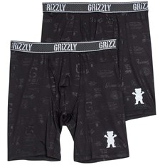 Boxershorts GRIZZLY - Grizzly Performace Brief 2Pack Assorted (ASST)