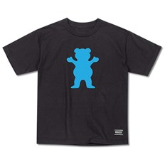 Tshirt GRIZZLY - Og Bear Youth S/S Tee Black/Blue (BKBL)