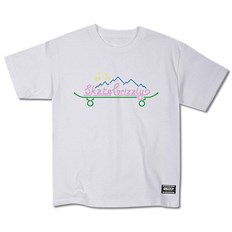 Tshirt GRIZZLY - Stay Lit Youth S/S Tee White (WHT)