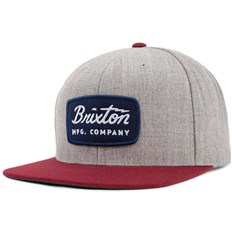 Cap BRIXTON - Jolt Snapback Light Heather Grey/Burgundy (LHGBU)