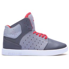 Schuhe SUPRA - Kids Atom Grey/Charcoal/Red-White (GCR)