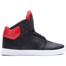 Schuhe SUPRA - Kids Atom Black/Red-Black (BKR)