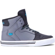 Schuhe SUPRA - Kids Vaider Charcoal/Black/Turquoise-White (CCB)