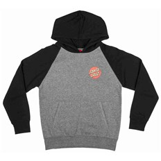 Sweatshirt SANTA CRUZ - Youth Screaming Hand Hood Black/Dark Heather (BLACK-DARK HEATHER)
