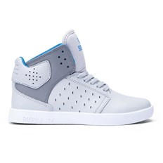 Schuhe SUPRA - Kids Atom Light Grey/Charcoal-White (GCH)