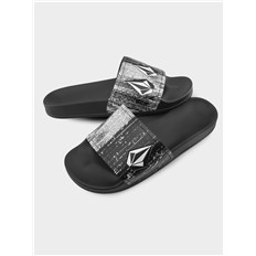 Flip-Flops VOLCOM - Dont Trip Mens Slide  Black White (BWH)