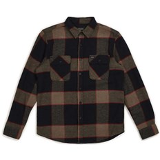 Hemd BRIXTON - Bowery L/S Flannel Heather Grey/Charcoal (HTGCH)